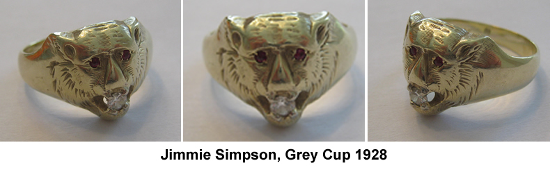 1928 Grey Cup Ring